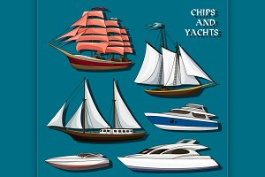 Ships and yachts set