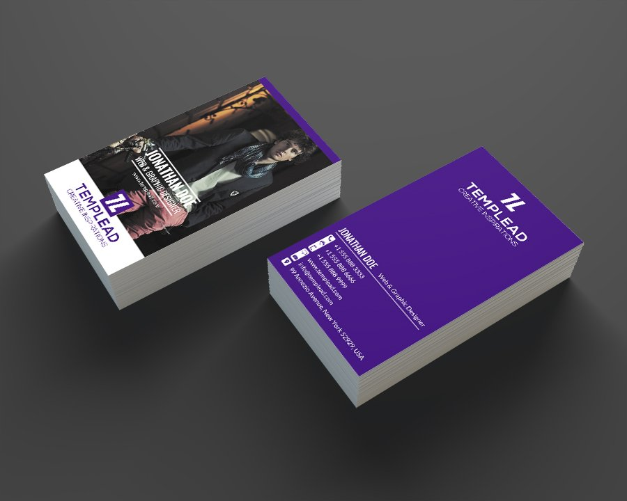 Modern Personal Business Card SE0206 ~ Business Card Templates ...