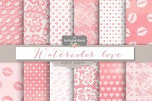 Watercolor Valentine Digital Paper