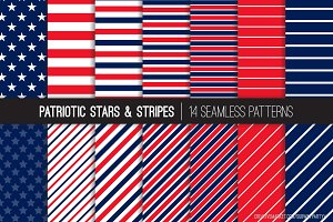Vector Patriotic Stars & Stripes
