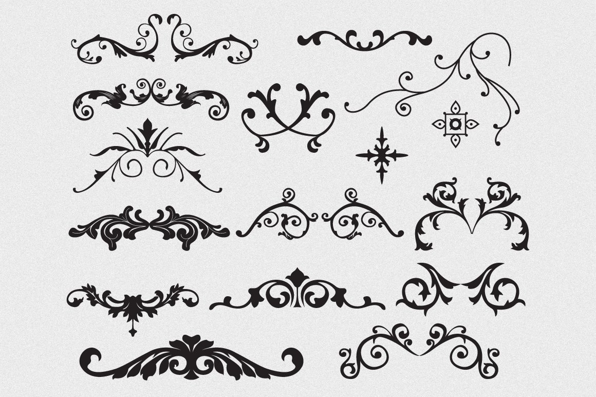 Flourishes Vector Pack Illustrations Creative Market