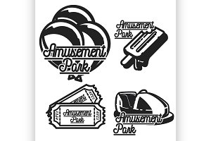 Amusement park emblems.