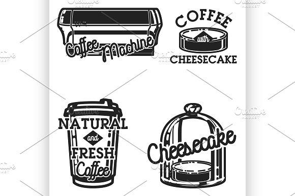 Color Vintage Cafe Emblems
