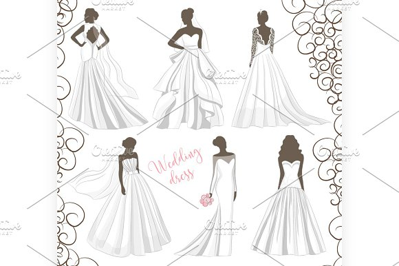 Wedding dress set