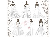 Wedding dress set