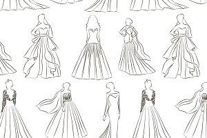 Wedding dress set pattern