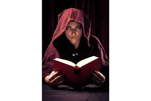 Spooky Fortune Teller Reading A Book