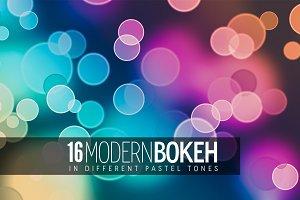 16 Modern Bokeh in Pastel Tones