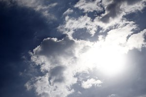 Cloud and sun on sky