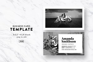 Monogram Business Card Template