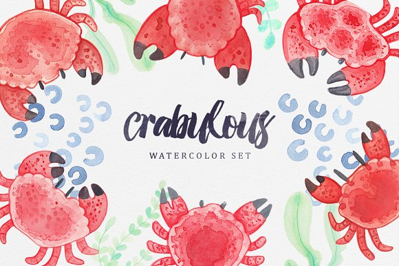 Crabulous Watercolor Set