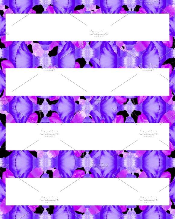 Colorful Stylized Floral Ornate Seamless Pattern