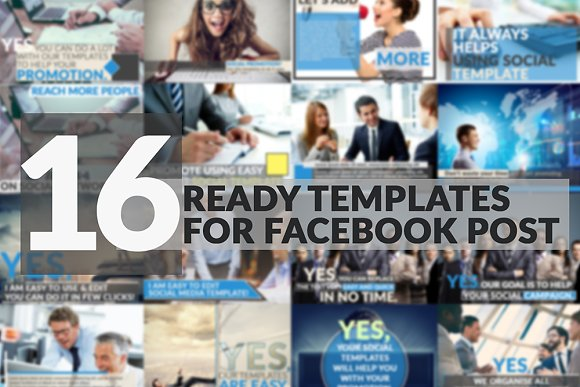 16 Facebook Post Templates Social Media Templates Creative Market