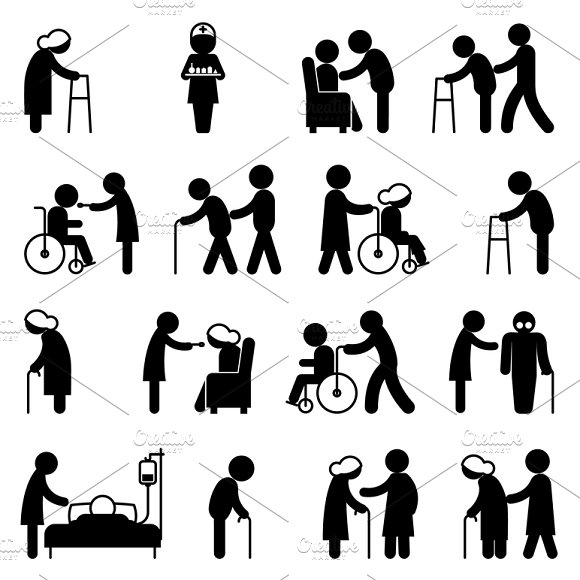 Disabled Health Care Icons