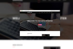ArteMonster  - Landing Page Template