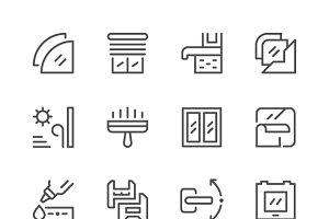 Set line icons of window