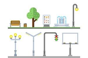 Urban landscape icons