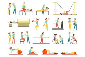 Physical Therapy Infographic Illustration
