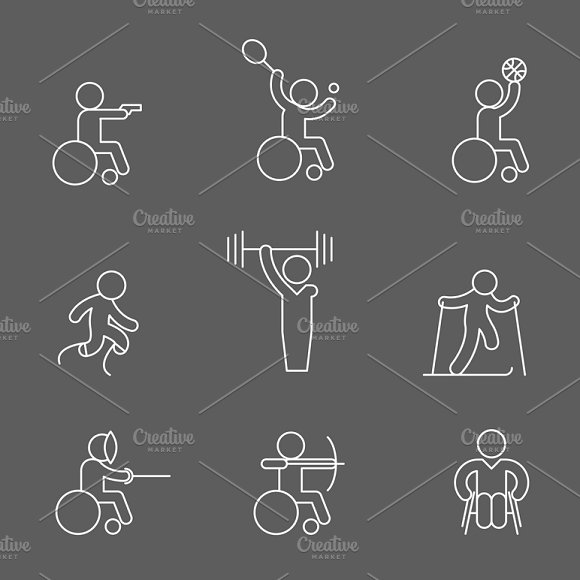 Disabled sport icons