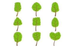 Decorative Trees Set