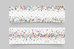 Confetti background set