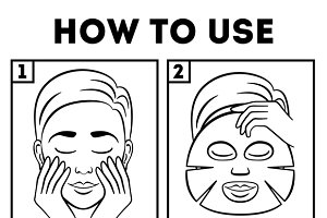 How to use facial sheet mask
