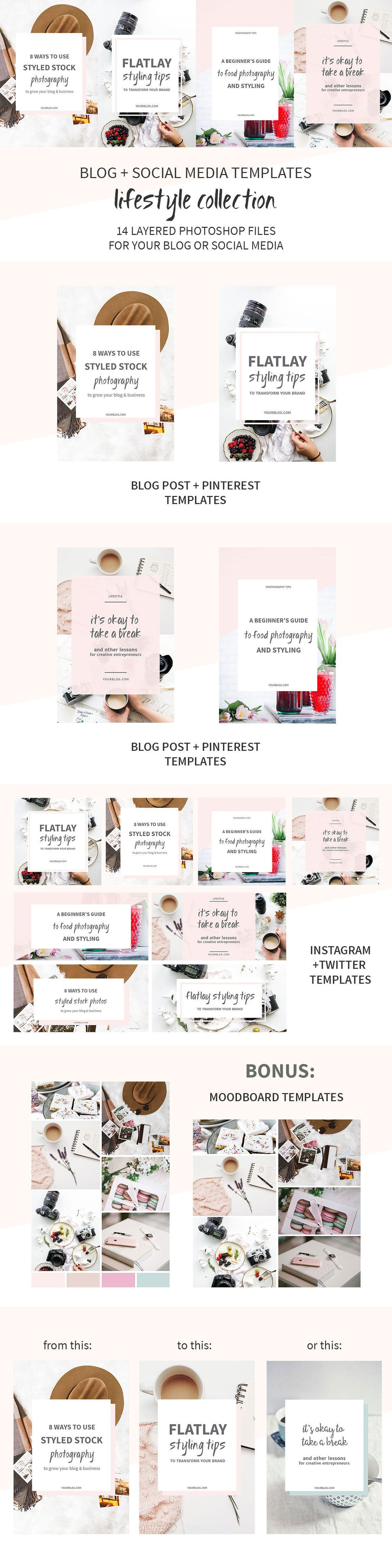Blog + Social Media Image Templates