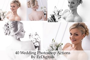 40 Wedding Photoshop Actions
