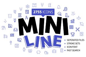 Mini line minimal pix perfect icons