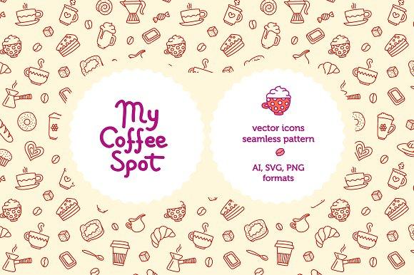 My Coffee Spot Seamless Pattern