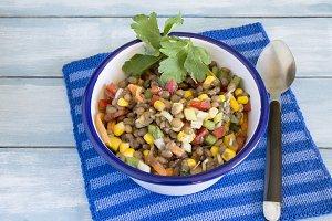 Delicious salad of lentils