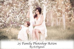 25 Photoshop Actions for Family and