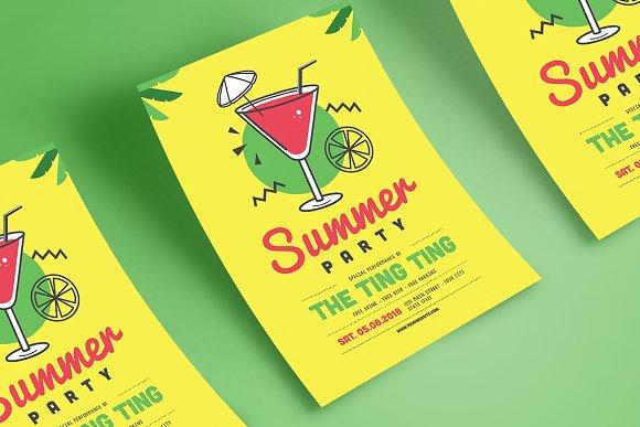 summer party flyer flyer templates creative market