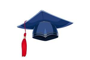 Blue academicic graduation cap