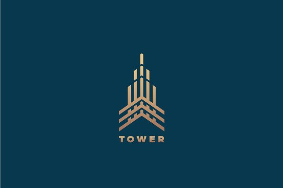 Tower Logo Business Card Template