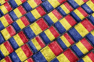 Romania Flag Urban Grunge Pattern