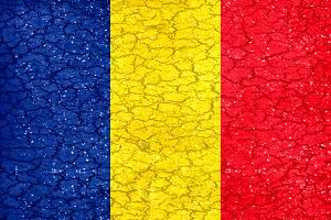 Romania Grunge Style National Flag