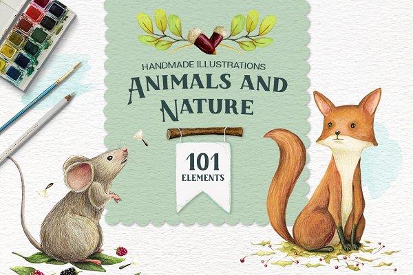 Animals and Nature - Design Kit