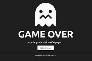 Animated HTML5/CSS3 404 Error Page