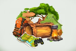 Camping and adventure vector
