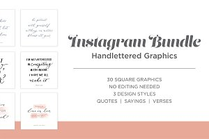 Lettered Graphics Instagram Bundle