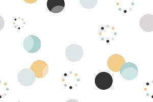 Circle pattern. Modern texture