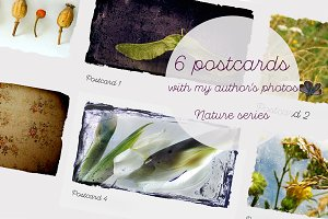 Vintage postcards: series Nature