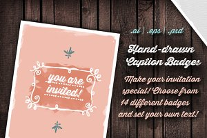 Hand-drawn Caption Badges (vector)