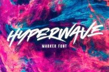 HYPERWAVE Marker Font