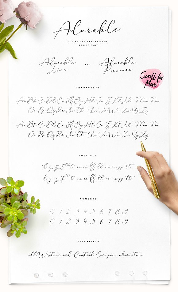Adorable Handwritten Script Font in Handwriting Fonts - product preview 7