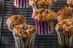 Banana wholegrain muffins