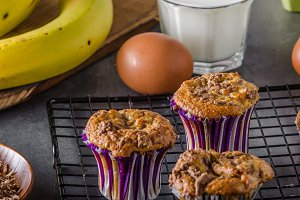 Banana wholegrain muffins