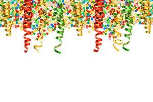 Confetti and Streamer. Party Deco