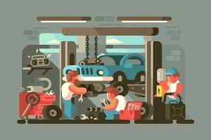 Garage auto service